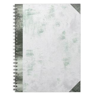 Cuaderno - palidezca - modelo de onda verde de la