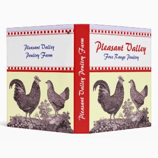 Cuaderno para las aves de corral, granja de pollos