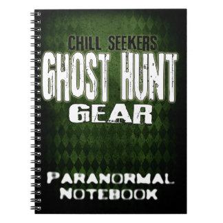 Cuaderno paranormal del engranaje de la caza del f