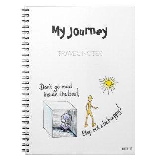 """Cuaderno """"paso del viaje fuera de la caja """""""
