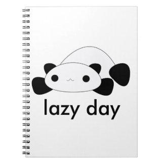 Cuaderno perezoso de la panda del día del kawaii l