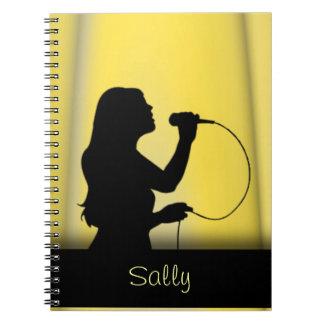 Cuaderno personal de la cortina amarilla del canta