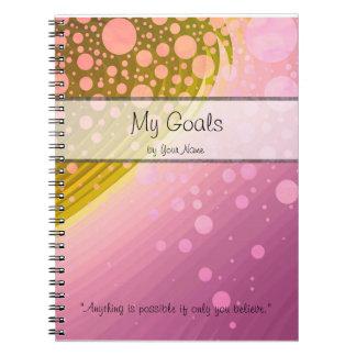 Cuaderno personal de la meta