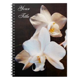 Cuaderno personal de las orquídeas blancas