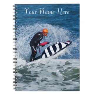 cuaderno personal del esquí del jet