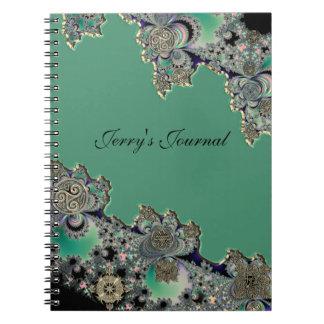 Cuaderno personal del fractal místico céltico verd