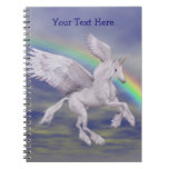 Cuaderno personalizado arco iris del unicornio del
