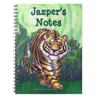 Cuaderno personalizado arte del tigre