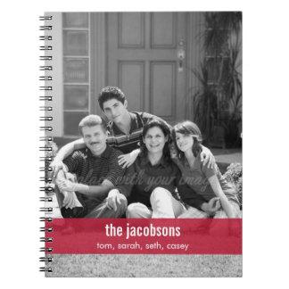 Cuaderno personalizado banda simplemente moderna