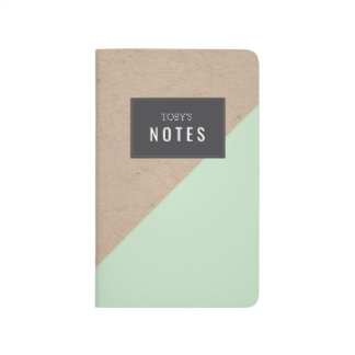 Cuaderno personalizado bloque geométrico del color