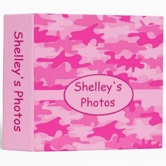 Cuaderno personalizado camuflaje rosado del álbum