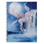 Cuaderno personalizado cascada del unicornio del v