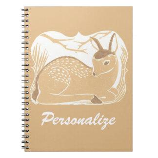 Cuaderno personalizado ciervos