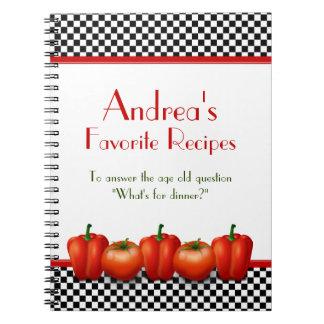 Cuaderno personalizado cocina italiana retra de la
