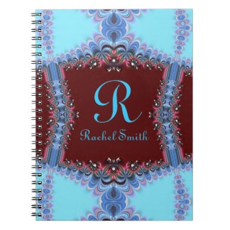 Cuaderno personalizado con volantes del rojo azul