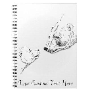 Cuaderno personalizado cuaderno del arte del oso d