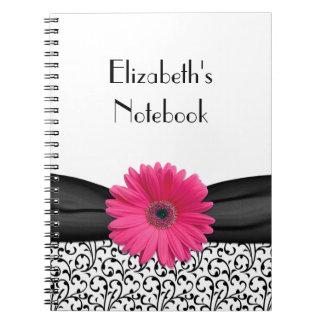 Cuaderno personalizado damasco rosado de la margar