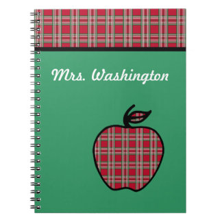 Cuaderno personalizado de Apple de la tela escoces