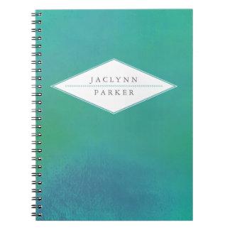 Cuaderno personalizado de la acuarela