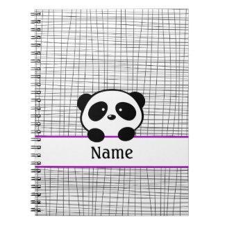 Cuaderno personalizado de la panda