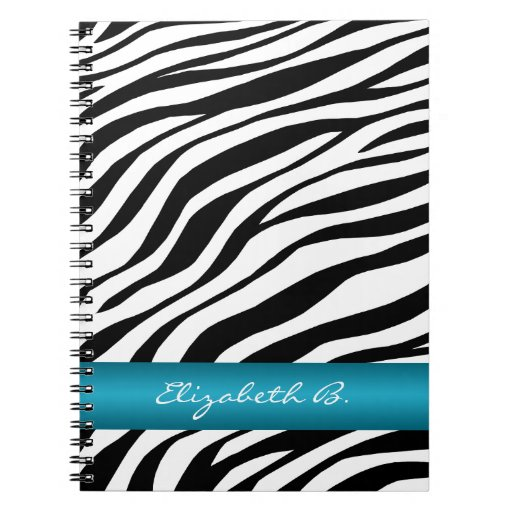 Cuaderno personalizado de la raya azul del estampa