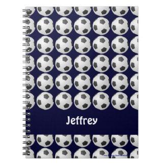 Cuaderno personalizado del balón de fútbol