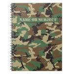 Cuaderno personalizado del camuflaje de los milita