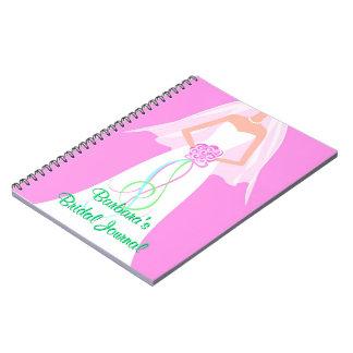 Cuaderno personalizado del diario de la novia