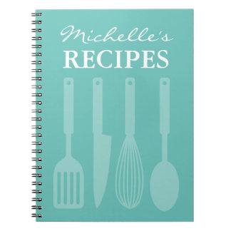 Cuaderno personalizado del libro de la receta de