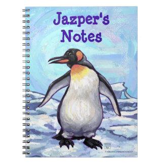 Cuaderno personalizado del pingüino
