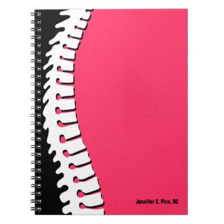Cuaderno personalizado espina dorsal lateral
