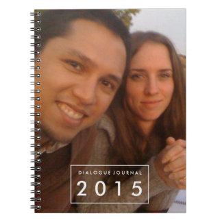 Cuaderno personalizado foto del libro del diálogo
