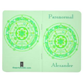 Cuaderno personalizado friki del arte del círculo