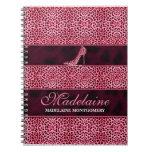 Cuaderno personalizado impresión rosada del guepar