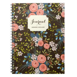 Cuaderno personalizado jardín floral salvaje de