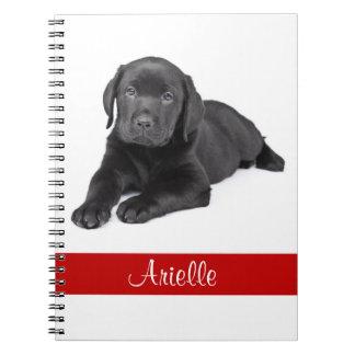 Cuaderno personalizado labrador retriever negro