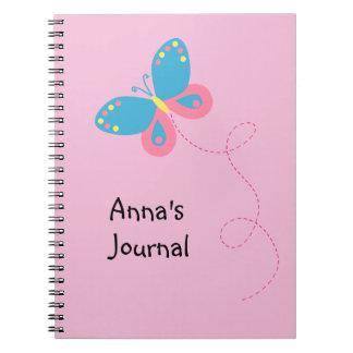 Cuaderno personalizado mariposa caprichosa linda