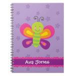 Cuaderno personalizado mariposa colorida