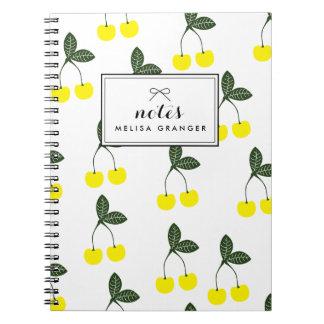 Cuaderno personalizado modelo amarillo de las