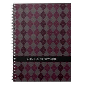 Cuaderno personalizado modelo marrón de Argyle