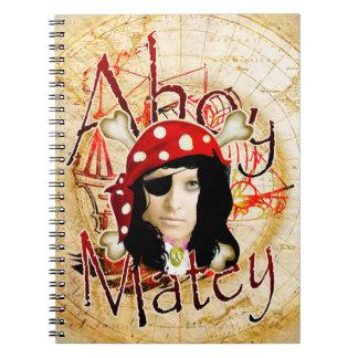 Cuaderno personalizado pirata de la foto para los