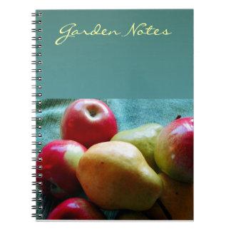 Cuaderno personalizado placer de la pera de Apple