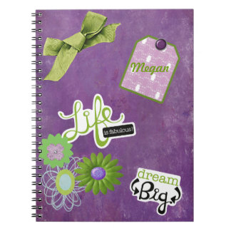 Cuaderno personalizado púrpura