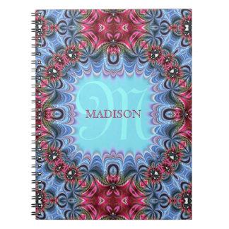 Cuaderno personalizado rosa azul con volantes de l