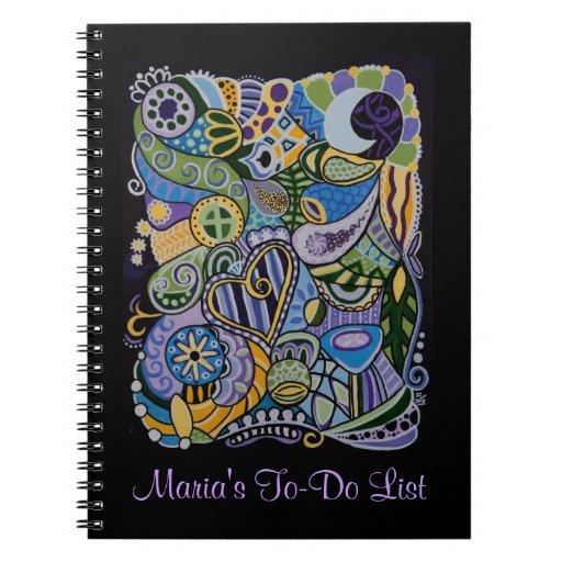 """Cuaderno personalizado """"sentido"""""""