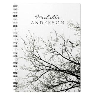 Cuaderno personalizado silueta del árbol