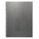 Cuaderno plateado de metal del efecto #1