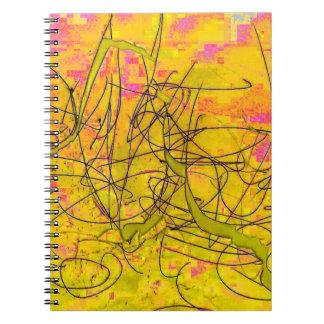 Cuaderno Pollock-inspirado fresco del garabato