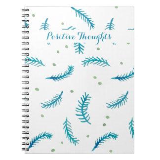 Cuaderno positivo pintado de los pensamientos de