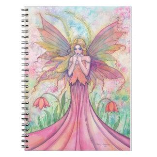 Cuaderno precioso de la hada del Wildflower